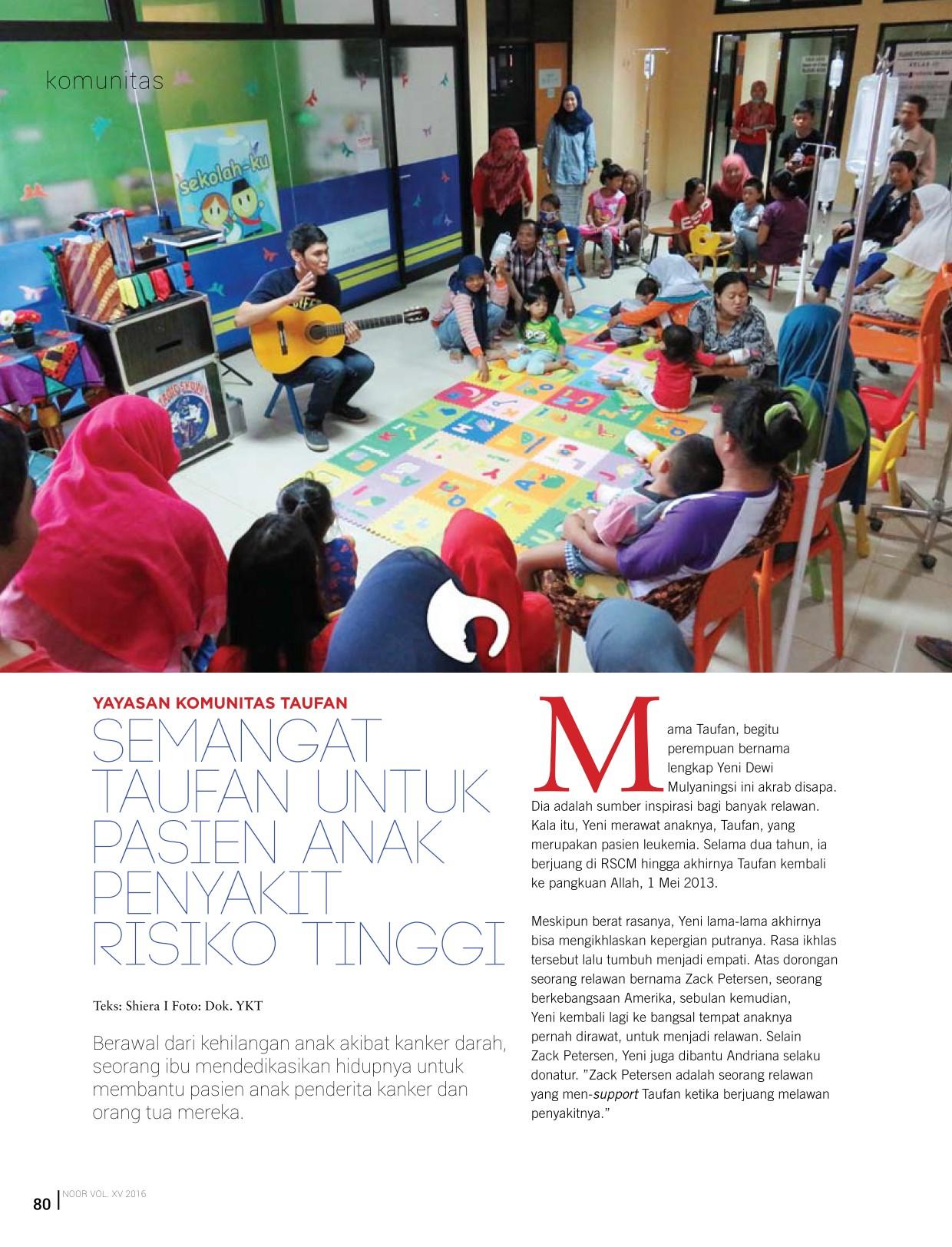 201606_Komunitas_Taufan_di_Majalah_NOOR_Semangat_Taufan_untuk_Pasien_Anak_Penyakit_Resiko_Tinggi_1