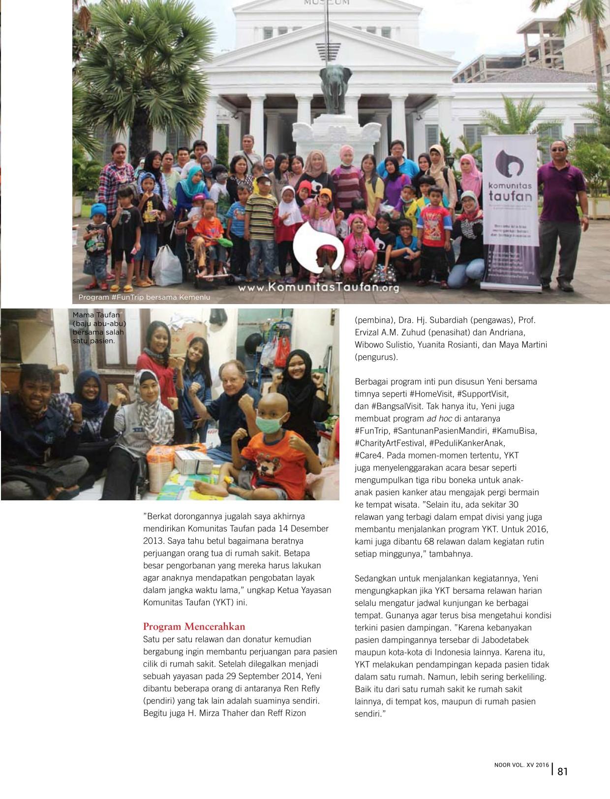 201606_Komunitas_Taufan_di_Majalah_NOOR_Semangat_Taufan_untuk_Pasien_Anak_Penyakit_Resiko_Tinggi_2