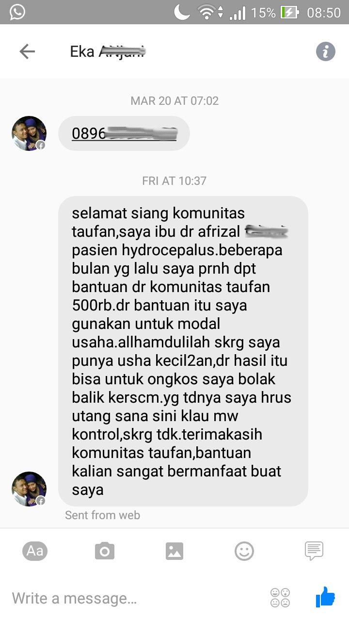 testimonial_orangtua_pasien_hydrocephallus_anak_dampingan_yayasan_komunitas_taufan